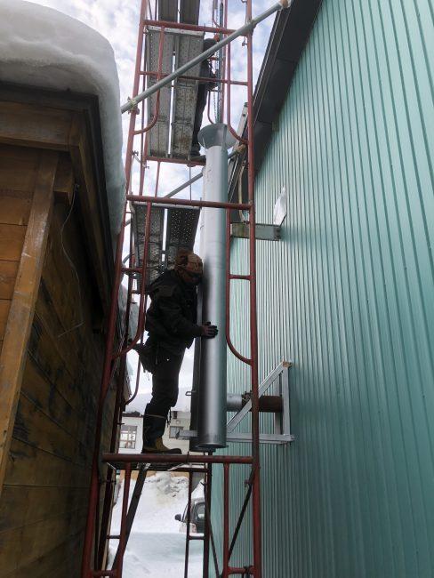 チェーンブロック 鋼管煙突