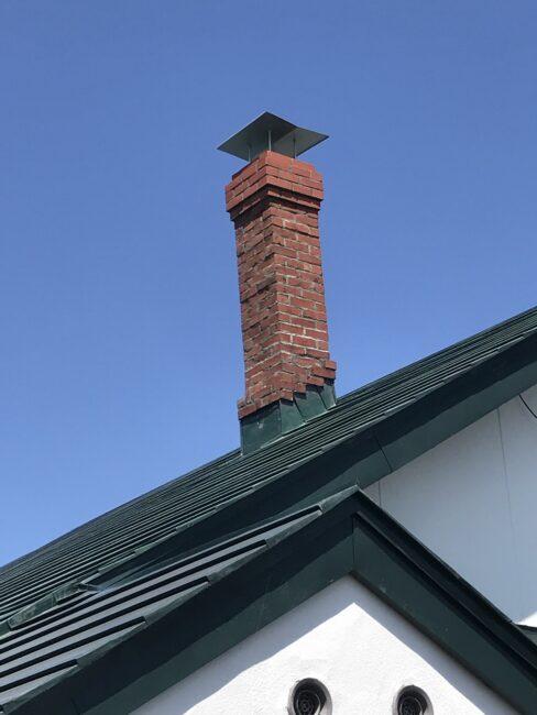 レンガ煙突修復